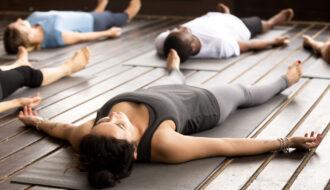 Savasana yoga pose for relaxation